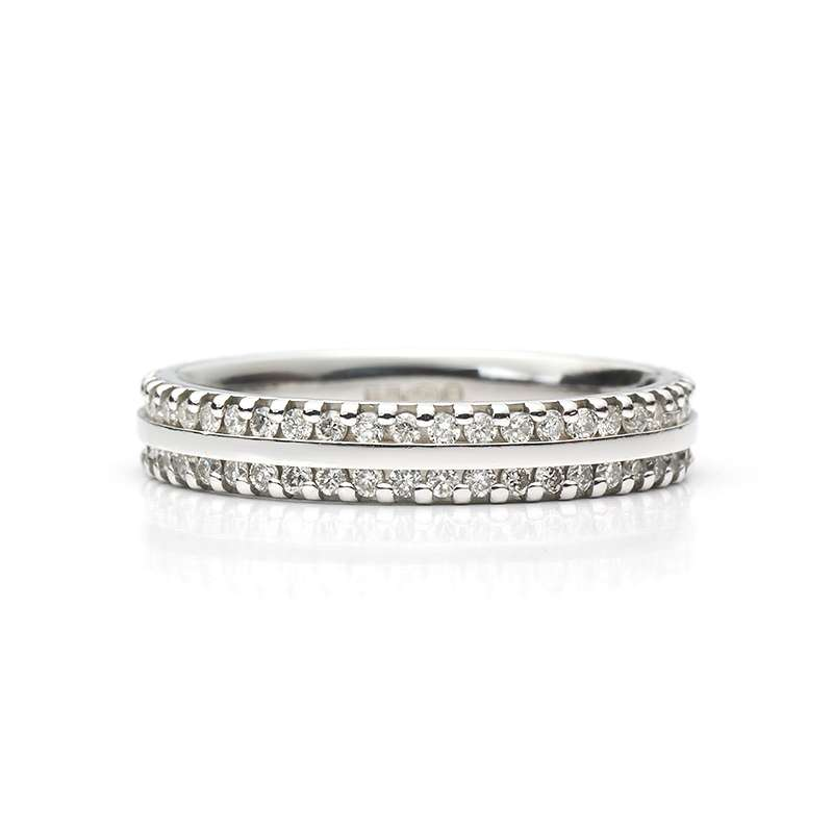 Diamond 2 Row Full Eternity Ring in Platinum 0.53ct